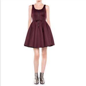 • Maje • Roitfeld Honeycomb Mesh Merlot Dress Sm